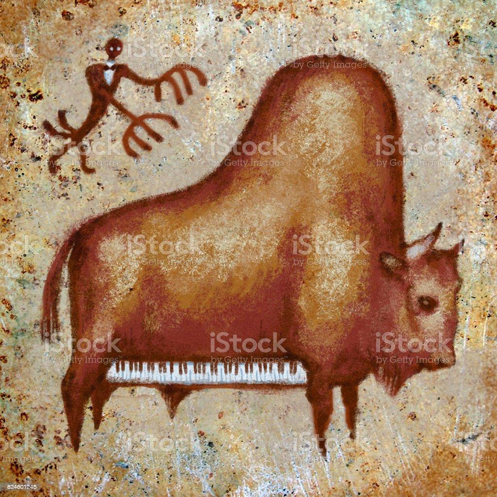 The grand piano buffalo art print royalty-free the grand piano buffalo art print stock vector art & more images of animal