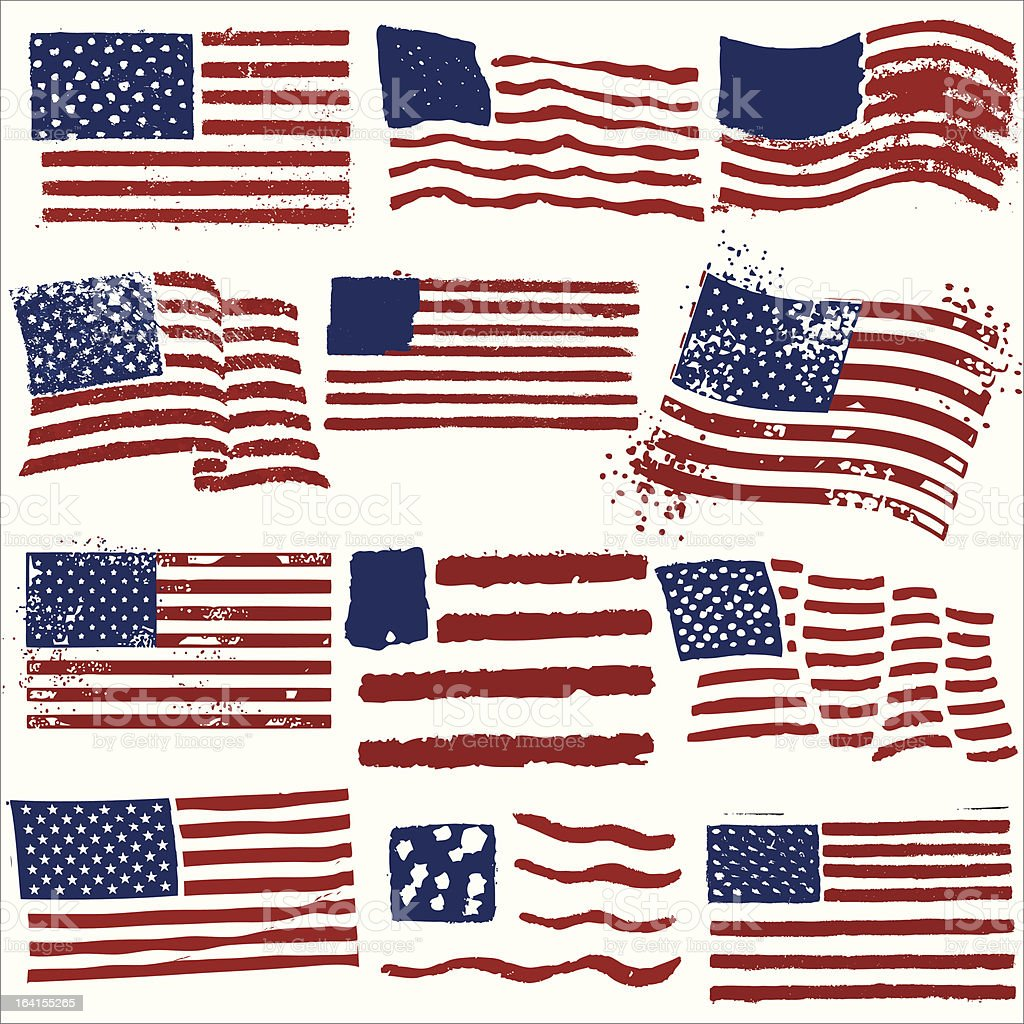 The great American stencil out vector art illustration