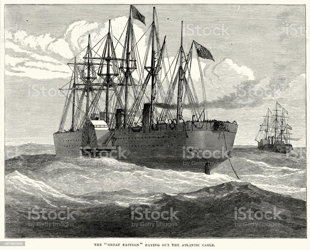 The Great Eastern vector art illustration