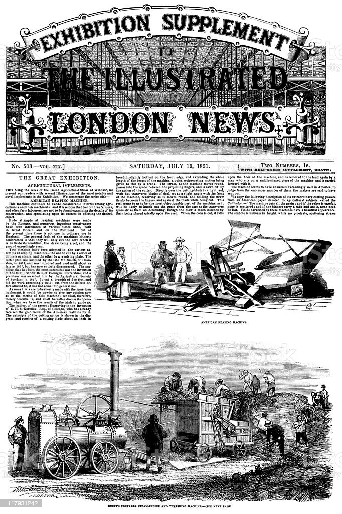 The Great Exhibition 1851 - Illustrated London News front cover vector art illustration
