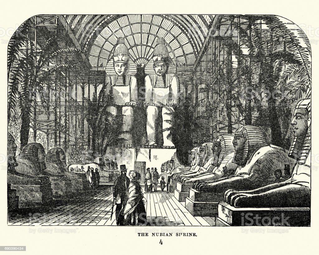 The Great Exhibition 1851 - The Nubian Court vector art illustration