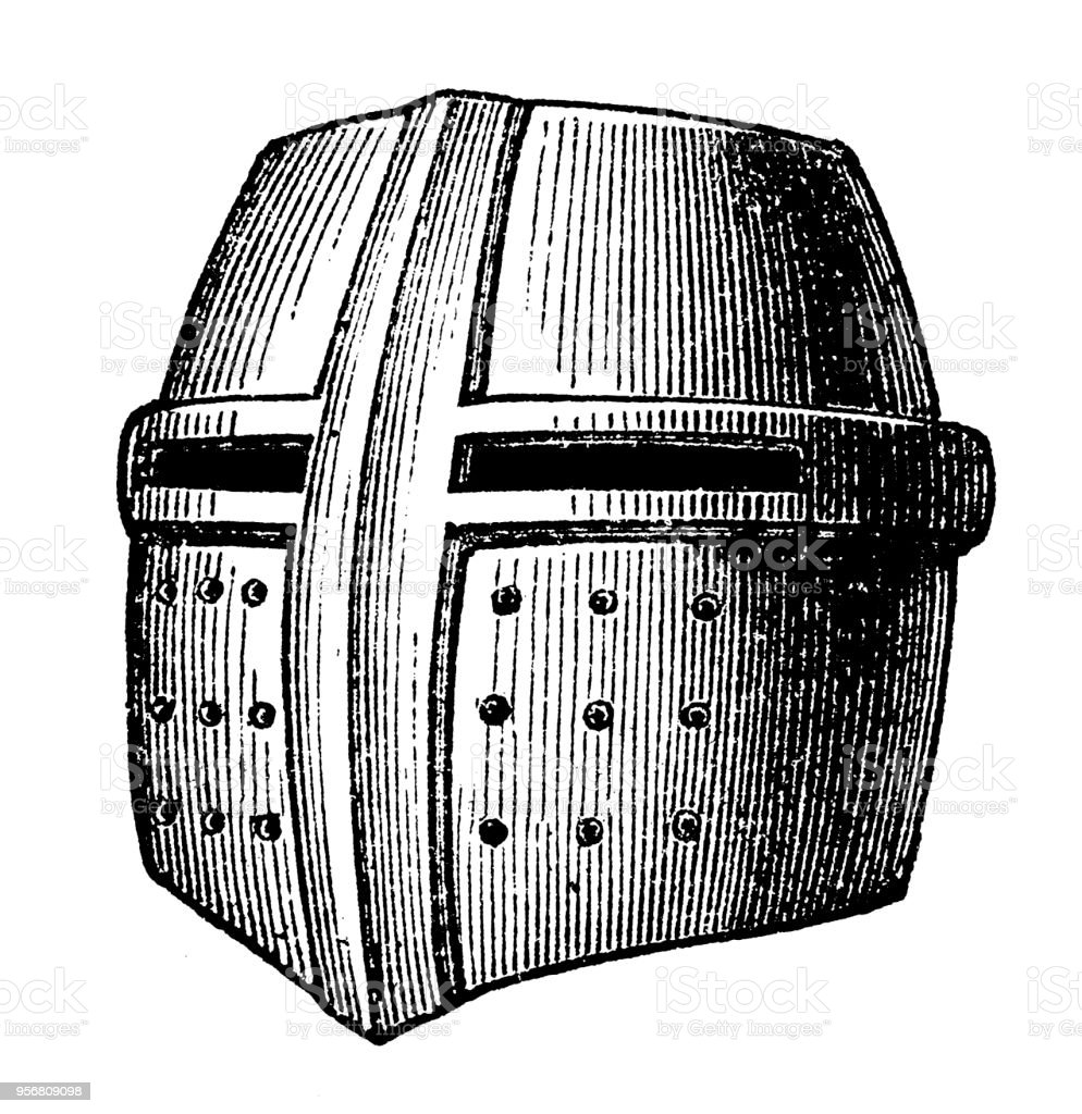 The Great Helm Or Heaume Also Called Pot Helm Bucket Helm