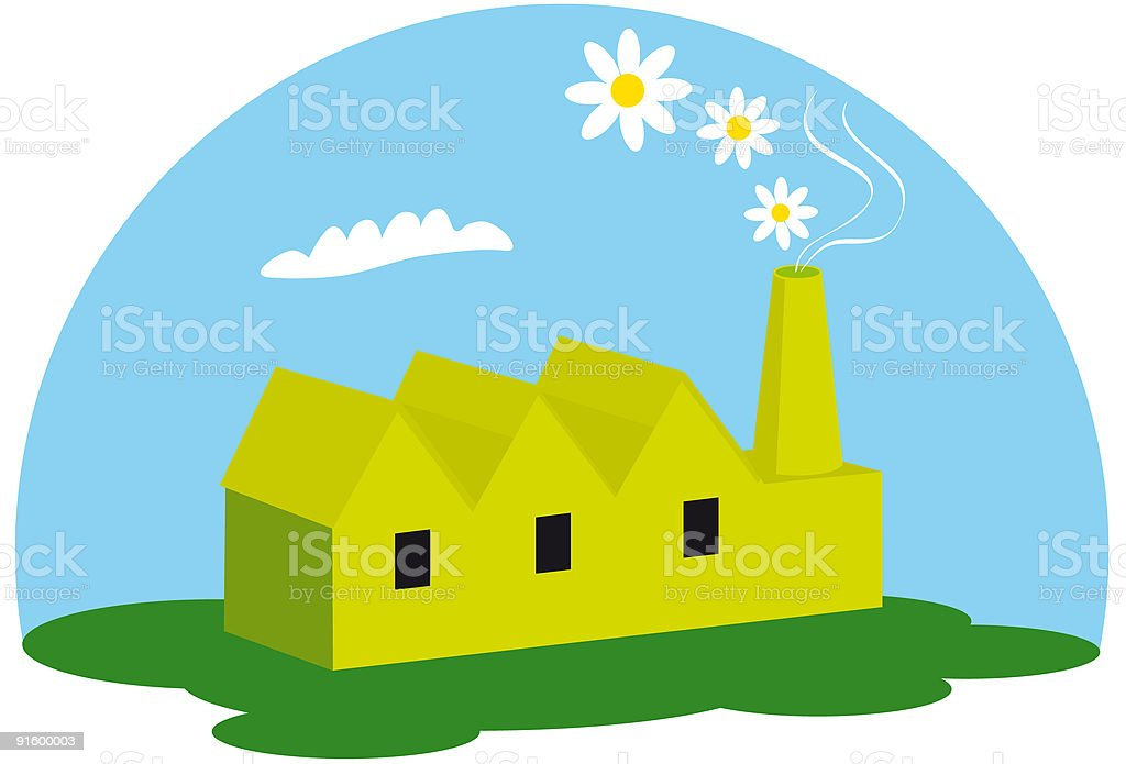 The green factory royalty-free the green factory stock vector art & more images of air pollution