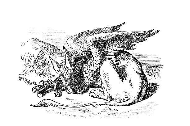 이 그리폰테리어 - 그리핀 stock illustrations