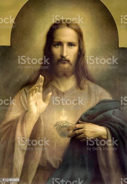 O Coração De Jesus Cristo - Arte vetorial de stock e mais imagens de Alegoria