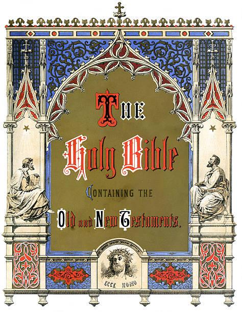 illustrations, cliparts, dessins animés et icônes de la sainte bible - enluminure bordure