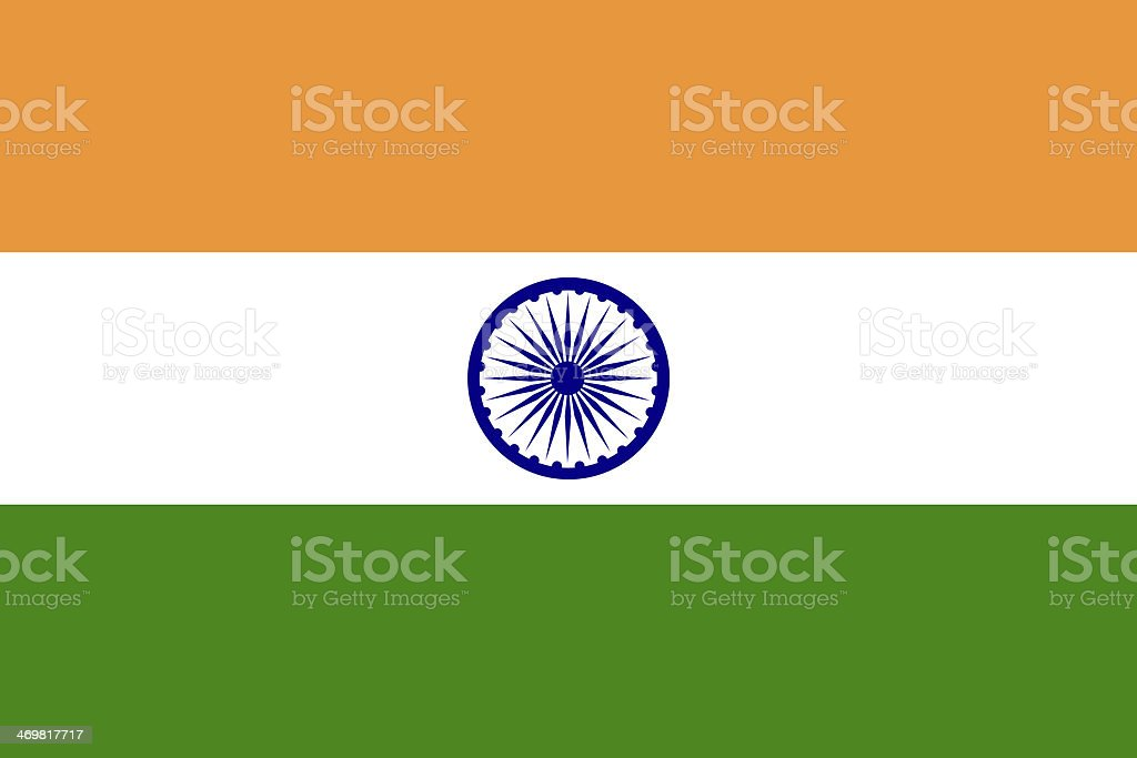 The image of the National Flag of India vector art illustration