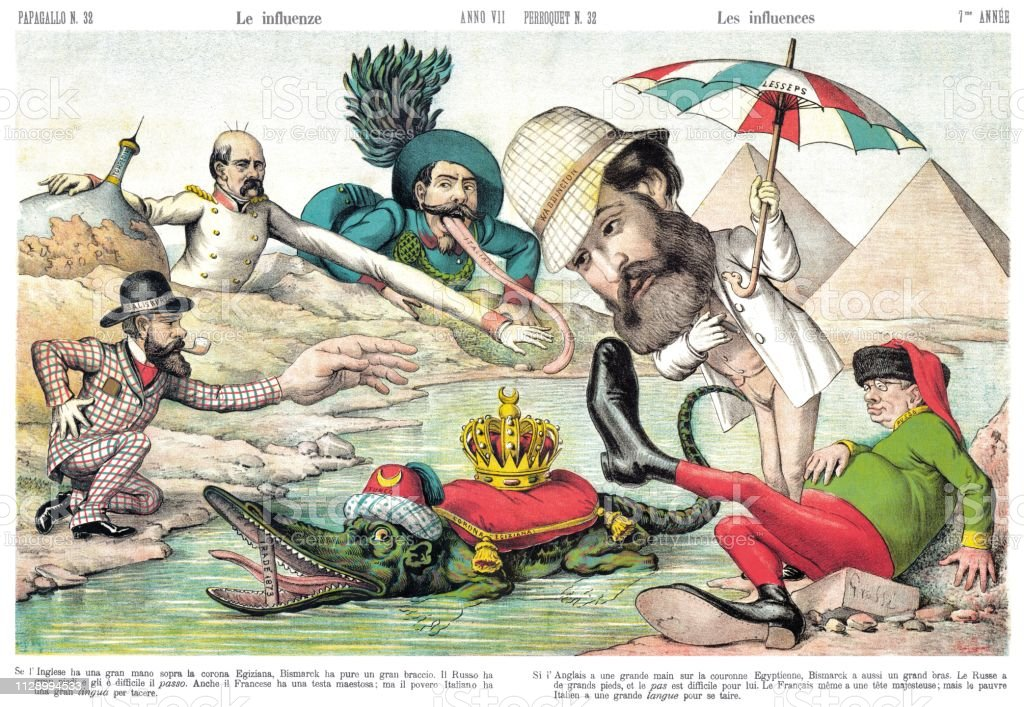 The Influences Satirical Cartoon Weekly Of 1879 Stock Illustration