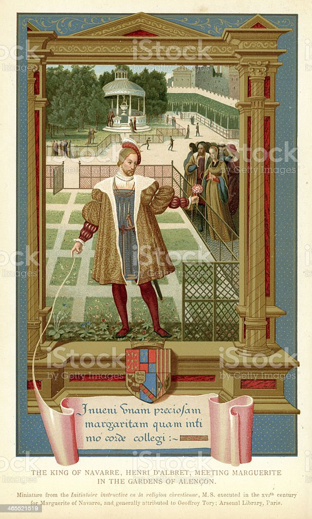 The King of Navarre royalty-free stock vector art