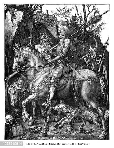 istock The Knight  with the Devil and Death 1293910814