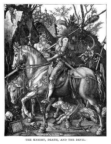 The Knight  with the Devil and Death