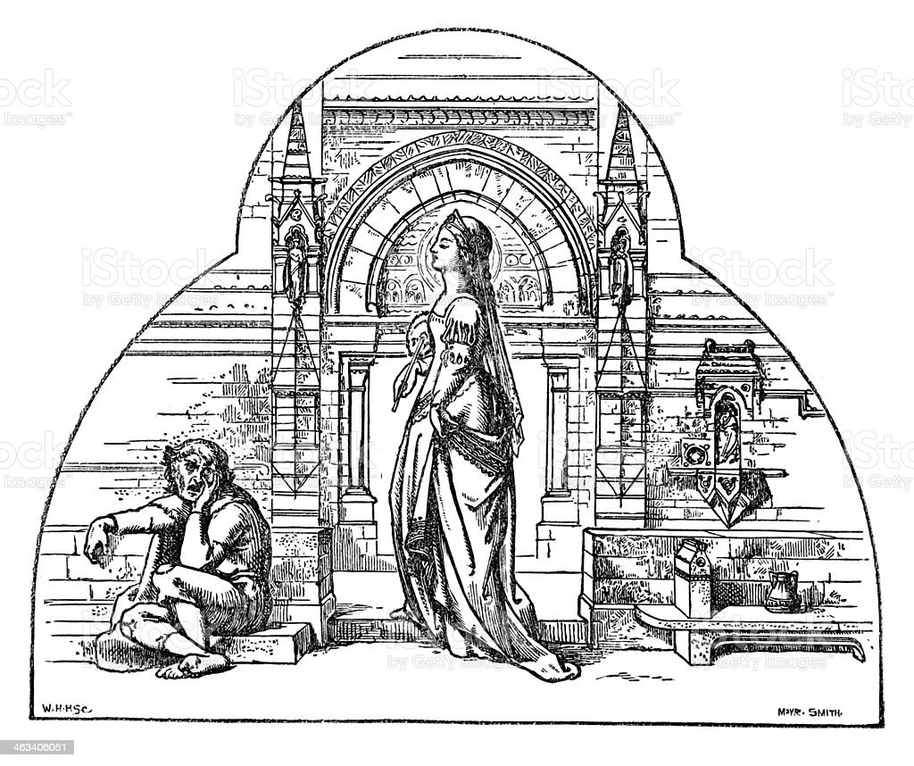 The Lady's Dream vector art illustration