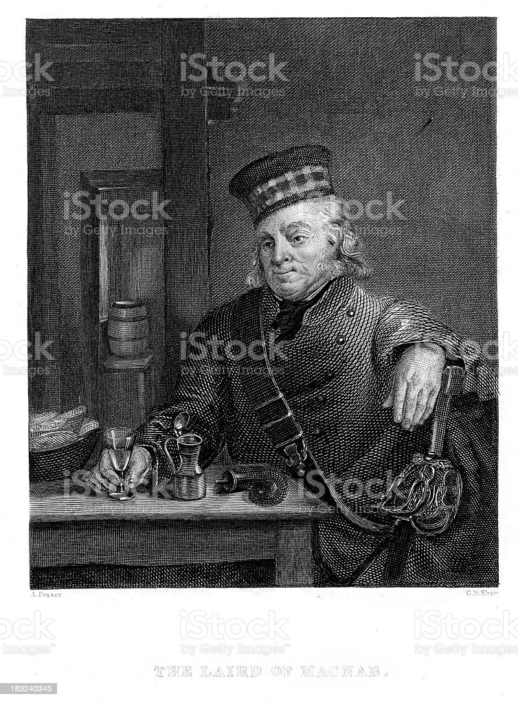 The Laird of Macnab royalty-free stock vector art