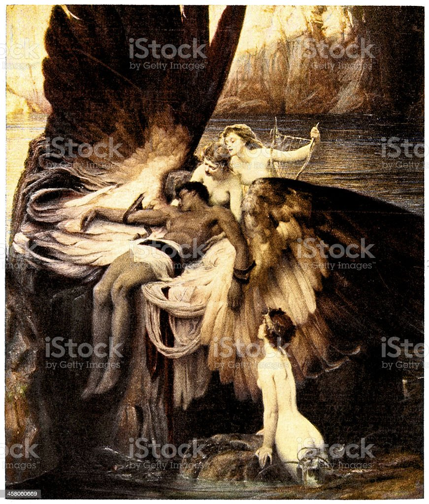 The Lament for Icarus vector art illustration