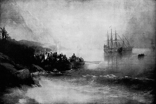 The Landing of Christopher Columbus by Ivan Aivazovsky - 19th Century
