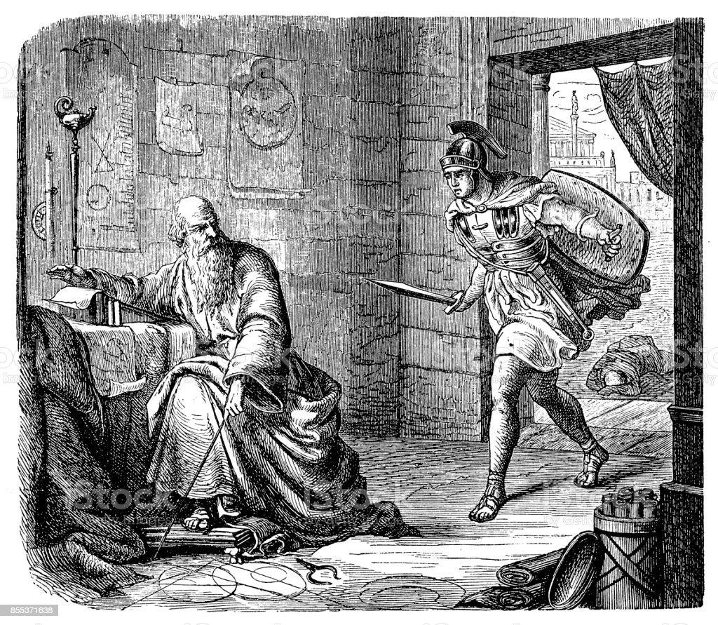 La última hora de Arquímedes ilustración de la última hora de arquímedes y más banco de imágenes de adulto libre de derechos