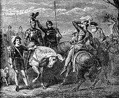 istock The Legend of El Cid (Rodrigo Díaz de Vivar) Tied to His Horse After Death for Troop Morale - 12th Century 1316835734