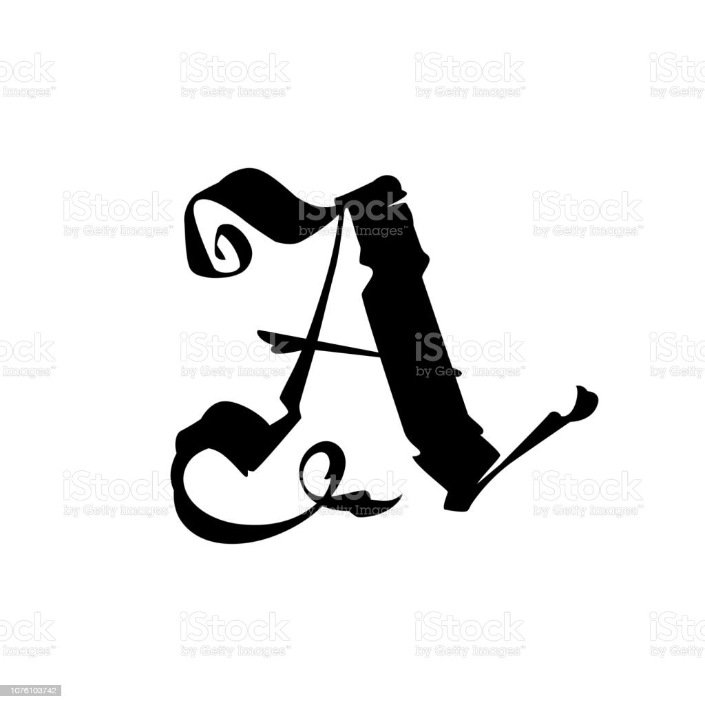 The Letter A In The Gothic Style Latin Capital Letter Symbol