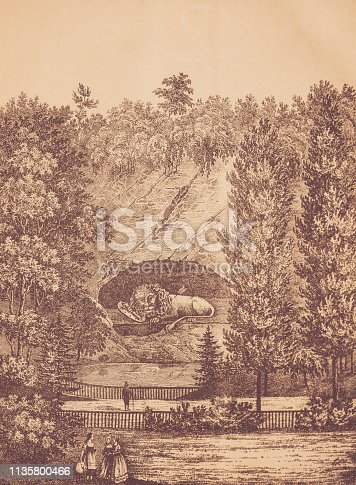 history, vintage, illustration, retro style,  18th Century Style, old, 1848