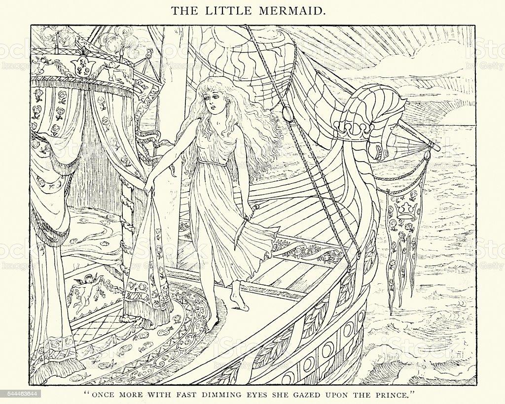 The Little Mermaid vector art illustration