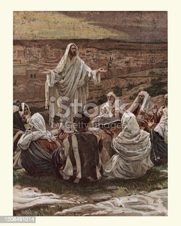 Vintage engraving of The lords prayer, by James Tissot