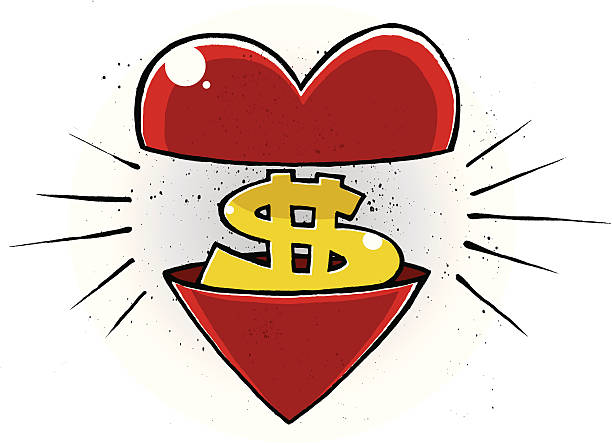 the love of money - evil money stock illustrations, clip art, cartoons, & icons