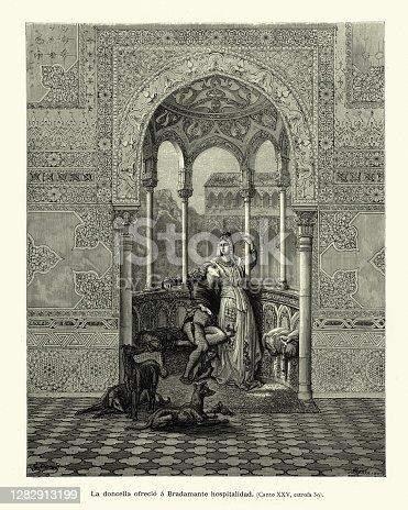 istock The maiden and Bradamante, Medieval chivalric romance, Orlando Furioso 1282913199