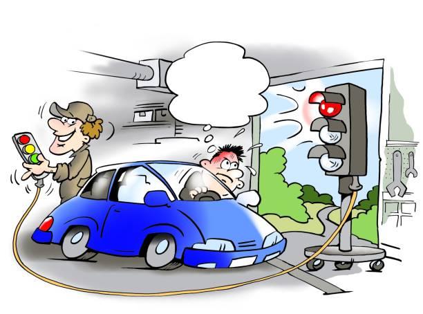 Panne voiture humour vecteurs et illustrations libres de for Garage qui reprend voiture en panne