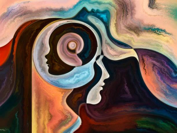 The Meditations on Inner Colors vector art illustration
