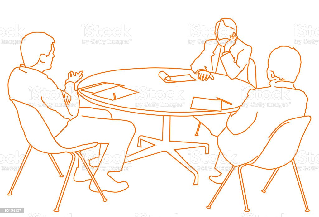 The Meeting royalty-free stock vector art