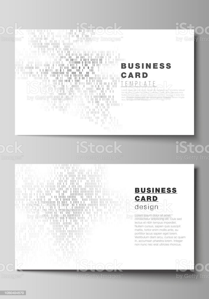 The Minimalistic Abstract Vector Layout Of Two Creative Business