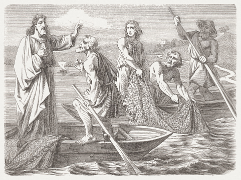 The Miraculous Draught of Fishes (Luke 5, 8-10), published 1877