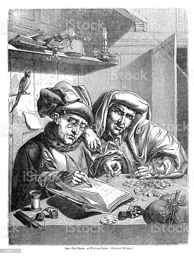 The Misers vector art illustration