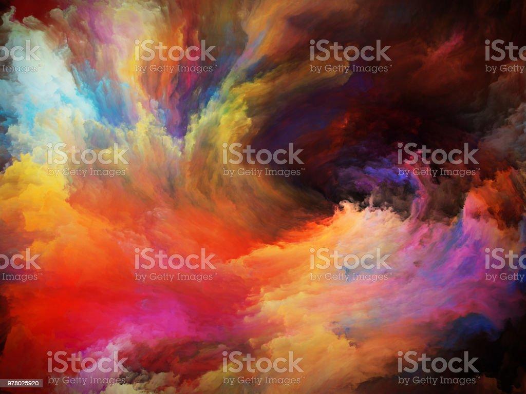 The Mist of Paint vector art illustration