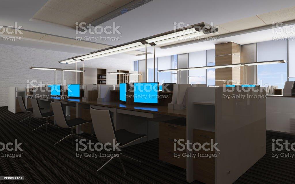 Lintérieur de bureau moderne design illustration d u cliparts