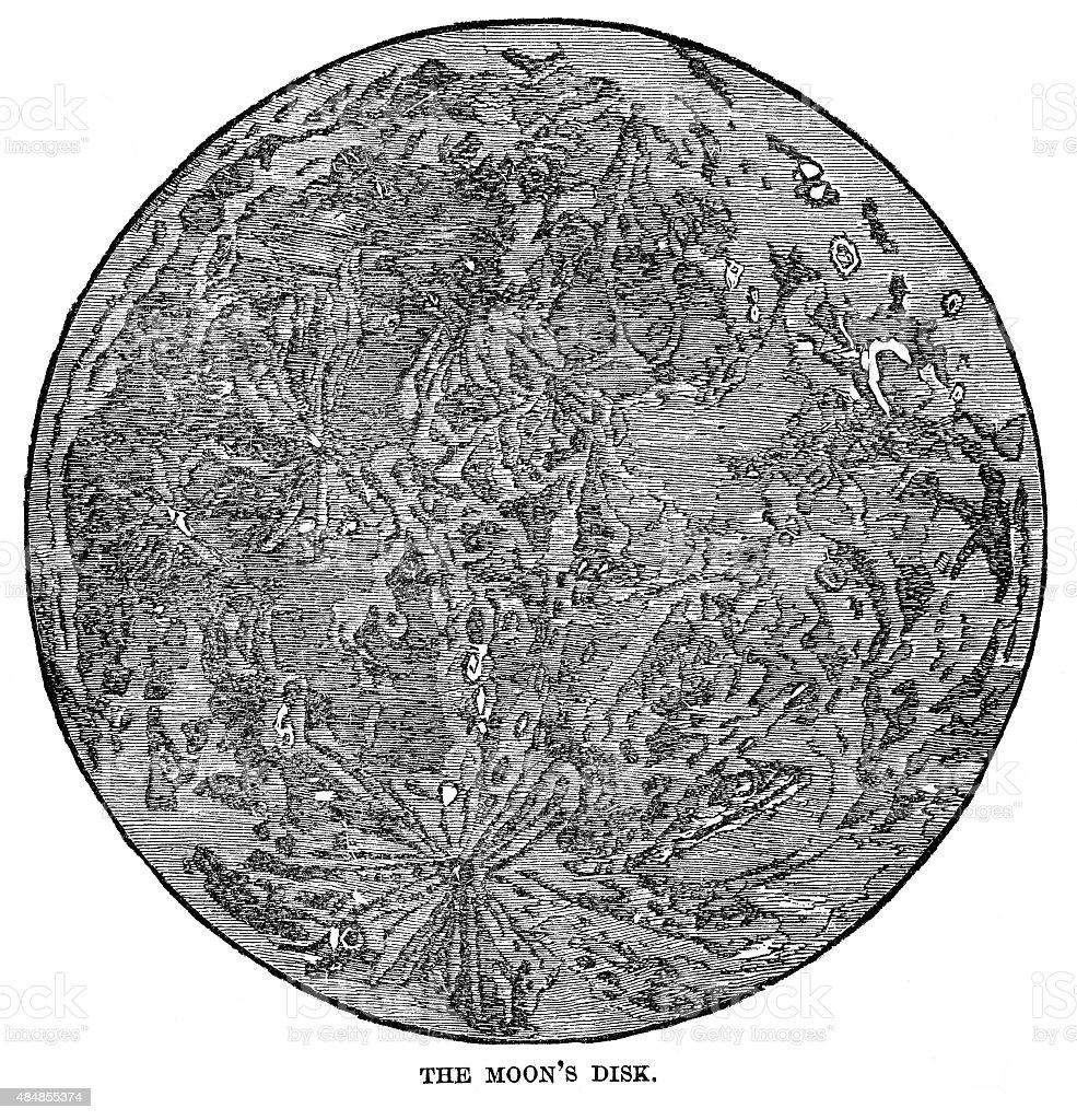 The Moon's Disk vector art illustration