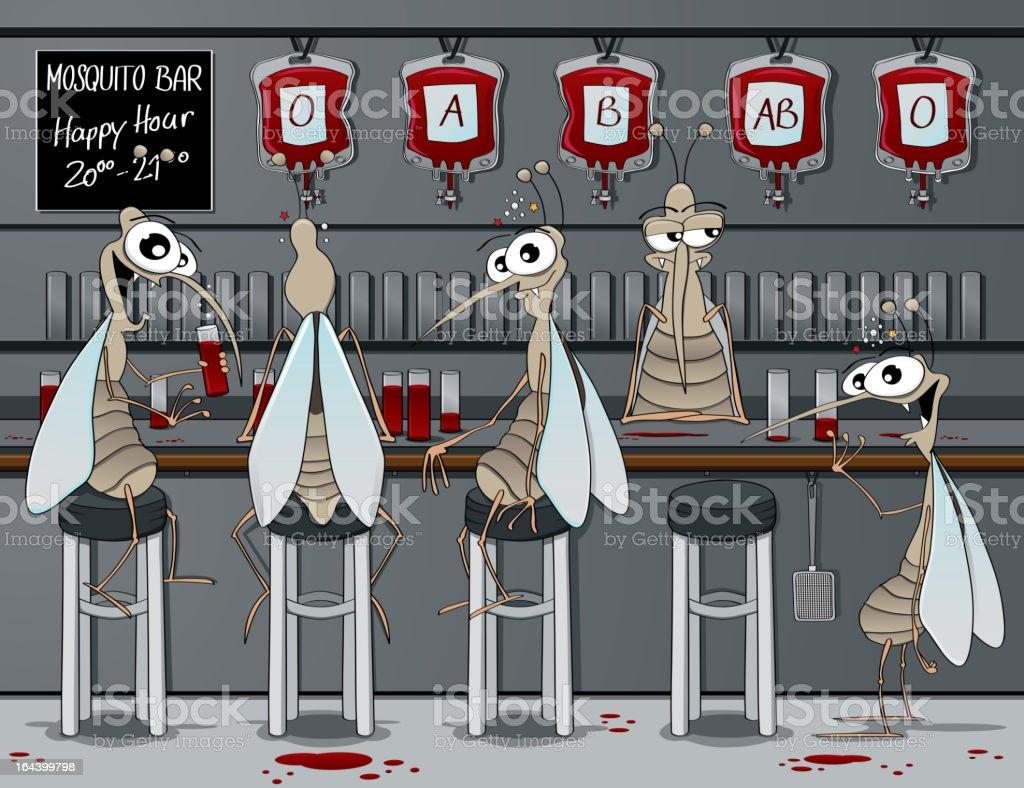 The mosquito bar vector art illustration