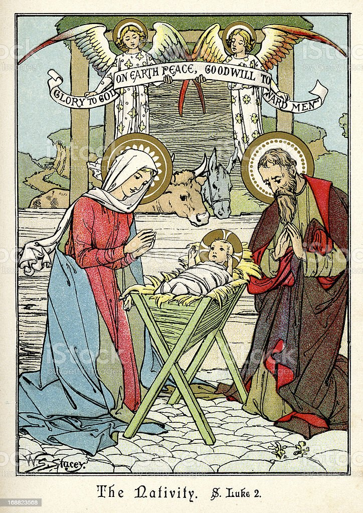The Nativity royalty-free stock vector art