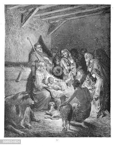 Bible Scenes and Stories for Young People (McCready Harris) - Illustrated by Gustave Doré - Published By O.M. Dunham 1883