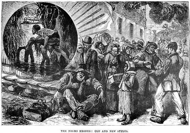 The Negro Exodus vector art illustration