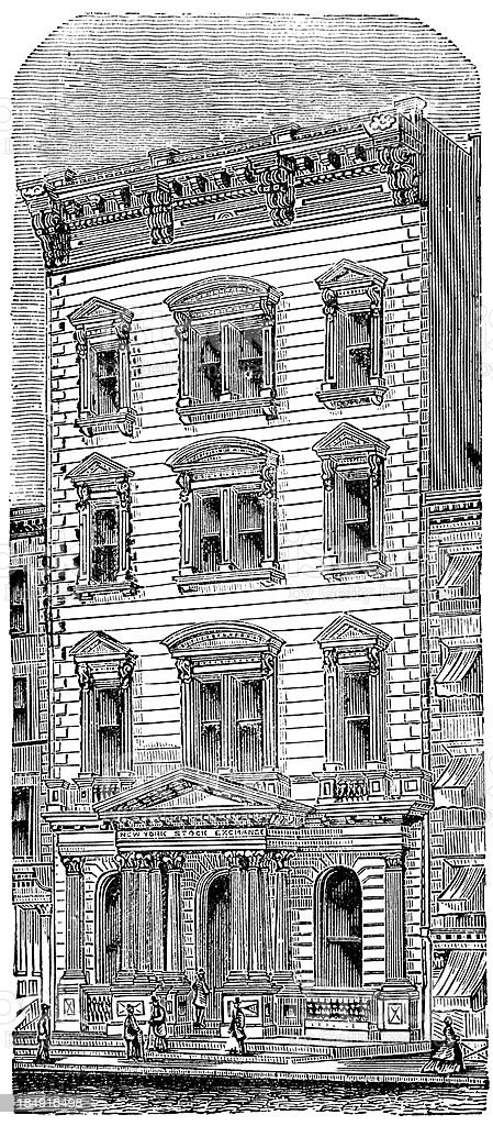The New York Stock Exchange royalty-free the new york stock exchange stock vector art & more images of 1870-1879