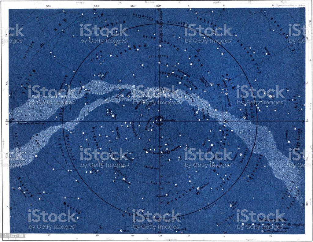 The northern sky vector art illustration