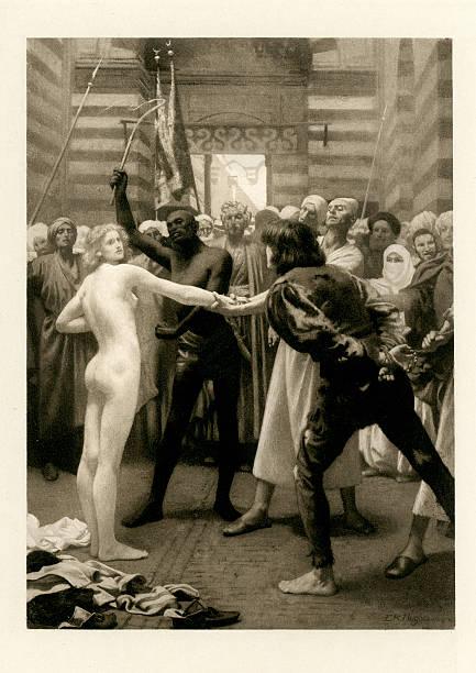 The Novellino of Masuccio - White Slavery Susanna a Captive vector art illustration