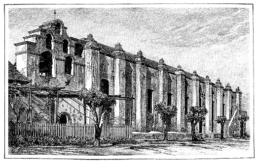 The old monastery of San Gabriel near Los Angeles