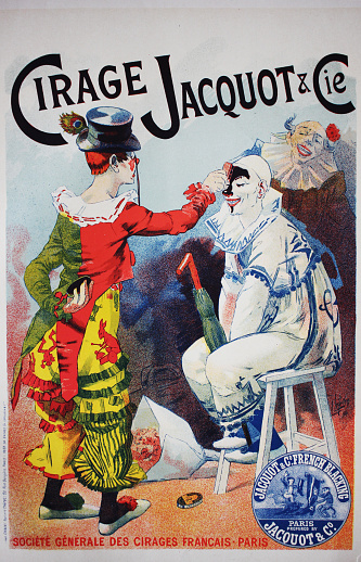 The old poster of circus