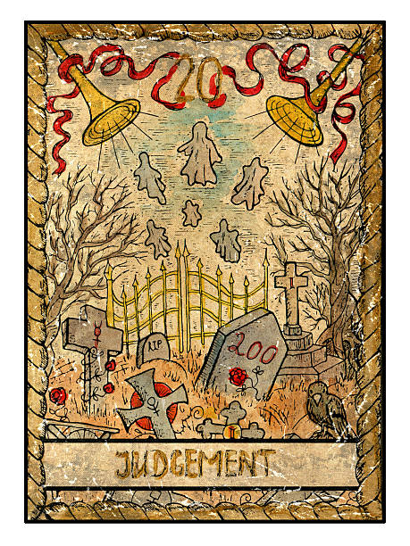 The Old Tarot card. Judgement vector art illustration