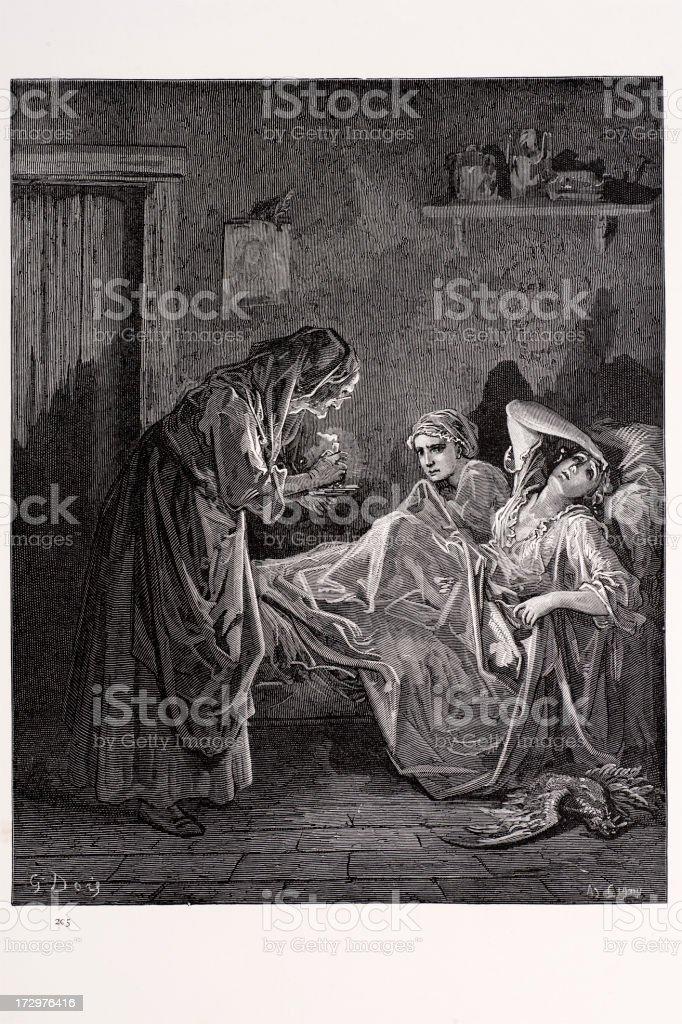 La vieille femme - Illustration vectorielle