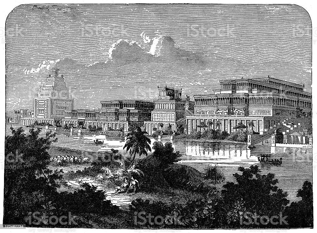 The Palace Of Sennacherib royalty-free the palace of sennacherib stock vector art & more images of 19th century