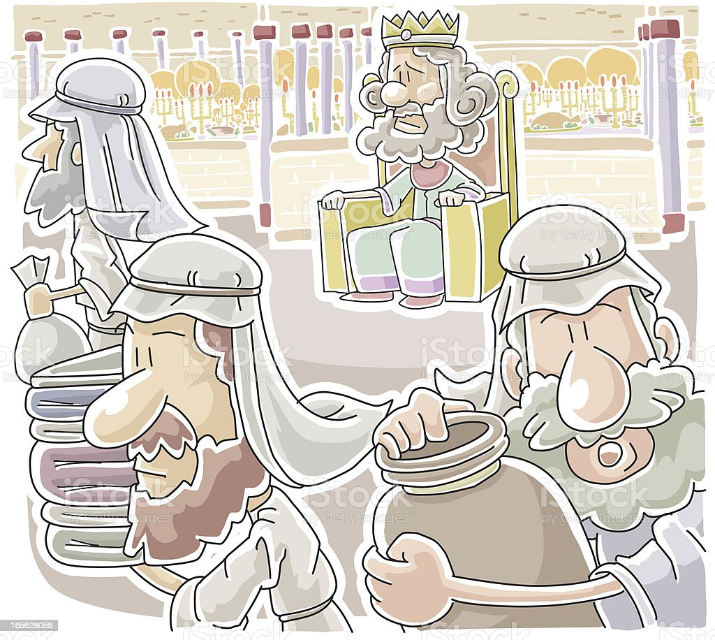 The parable of  wedding feast royalty-free stock vector art
