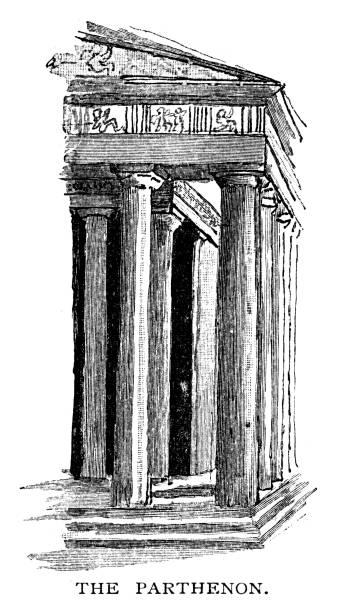stockillustraties, clipart, cartoons en iconen met het parthenon in griekenland - athens